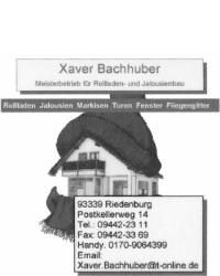 Rolladen & Jalousien Xaver Bachhuber