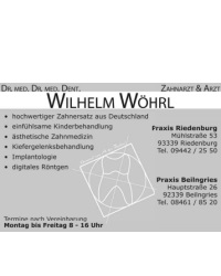Zahnarzt & Arzt Dr. Dr. Wöhrl
